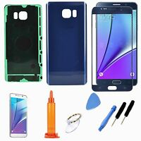 Blue LCD Lens Replacement Screen Back Door Glass Cover For Samsung Galaxy Note 5