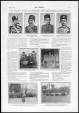 1900 PERSIA IRAN Shah Visit London Palace Teheran Throne Public Audience (102)