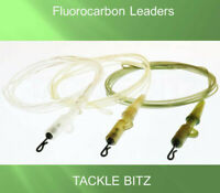 Fluorocarbon Carp Leaders with Fishing Tackle Safety Clips Quick Change Swivels