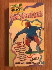 License To Skate For Starters (1990 VHS) Skateboarding Instructional Basics