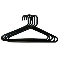 100 strong quality Black Adult Plastic clothes coat jacket trouser hangers