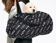 Victoria's Secret PINK ❤️ Travel Weekender Duffle Tote Bag Black White Logos NWT