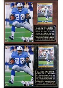 Barry Sanders #20 Detroit Lions Legend NFL MVP Hall of Fame Photo Card Plaque