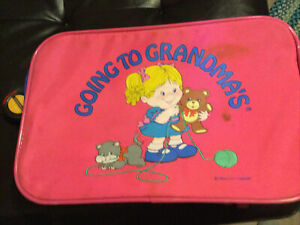 "Mercury Luggage ""Going To Grandmas"" Pink Large 16"" X 10.5"" X 5.25"""
