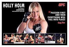 Ufc Bantamweight Superstar Holly Holm Fight Poster
