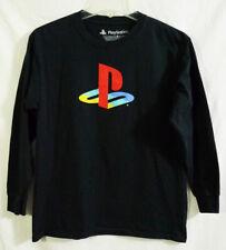 Official Playstation Logo Black Long Sleeve Shirt Youth size Large