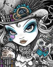 Full drill DIY 5D Diamond Painting Cartoon Fashion Girl Owl Art Embroidery 2114H