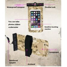 Waterproof Case with Armband Compass Lanyard Phone Touching Screen Dry Bag