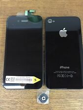 Original Quality Replacement Lcd Screen Back Glass Button For iPhone 4s Black