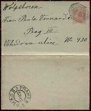 Austria 1901, 10h Stationery Air Letter Card, Wien - Prague #C22178