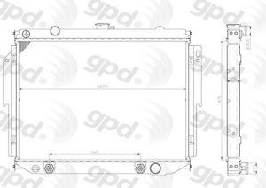 Radiator Global Parts Distributors 961C
