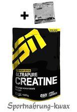 (24,40€/Kg) ESN Ultrapure Creatin Monohydrate - 500g + Produktprobe gratis