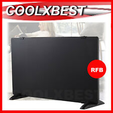 BLACK GLASS PANEL HEATER 2000w THERMOSTAT WALL MOUNT / PORTABLE LIVING BEDROOM
