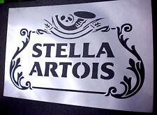 high detail airbrush stencil stella artois logo FREE UK POSTAGE