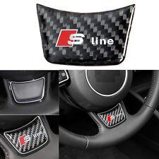 Carbon Fiber Steering Wheel Sline S Line Decor Sticker For Audi A4 B8 A3 A6 C7