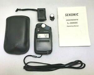 [ N.Mint Sekonic L-308DC Fotografica Esposimetro W/ Custodia E Cinghia Da Japan