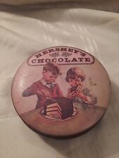 Vintage Hershey's Chocolate Tin Can Container Collectible 1982 Round England