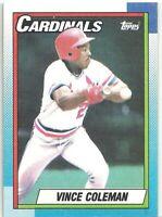 1990 Topps St. Louis Cardinals Baseball Card #660 Vince Coleman