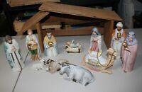 Vintage Retired HOMCO Home Interiors Nativity 13 piece set porcelain 5110 5605