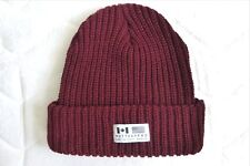MUTTONHEAD from TORONTO CHUNKY Ribbed Tuque Cuff Beanie BURGUNDY OSFA New CANADA