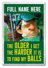 Golfer gift rude novelty magnet any name husband dad boyfriend brother