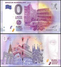Zero 0 Euro Europe,2017 - 3 (3rd Print),UNC,Miniatur Wunderland,Hamburg Germany