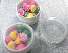 100 White widemouth Jars Party Container 1/2 oz 1Tblsp Herbs #4302 USA DecoJars