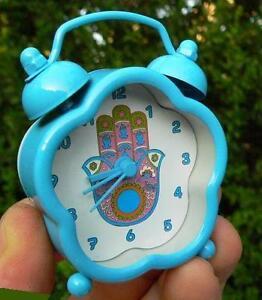 Cute Alarm Clock HAMSA Hand of God Khamsa Watch Judaica Chamsa Jewish Luck Charm