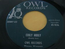 Rare Teen Oldies Bopper 45: Denny Lee on Owl - Judy's Clown & Cooly Mooly