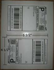 "200 4 1/2"" X 6 1/2"" LABELS FOR PAYPAL/USPS SHIPPING FIT #000 ENVELOPE"