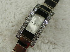 Ladies Silvertone Rhinestone Bracelet Watch (A54)