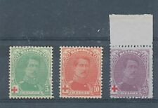 TIMBRE STAMP ZEGEL BELGIQUE ALBERT 1er CROIX ROUGE RED CROSS 129-131 X