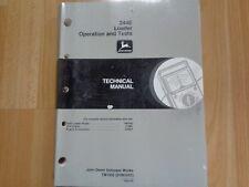 John Deere 244E Loader technical operation test manual TM1502 OEM **