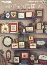 Short & Sweet #2 Miniature Sayings 50 Counted Cross Stitch Patterns