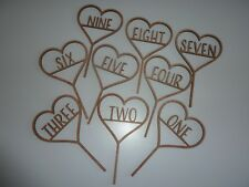 Wooden Table Numbers 1-9