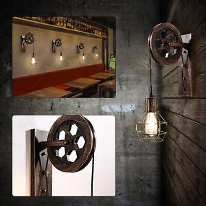 E27Industrial Deckenlampe Bronze Leuchte Retro Kronleuchter Loft Hängelampe