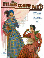 1949 Fall Eclair Coupe Paris Pattern Book Reprint