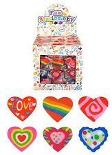 1-48 4cm Heart Pink Eraser Rubber Kids Girls Party Goody Bag Pinata Filler Toy