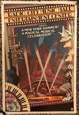 1979 Radio City Music Hall ProductIions A New York Summer Magical Musical Poster