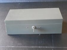 Vintage Metal ASCO STEELMASTER BOND BOX w/ KEYED LOCK Safe Strongbox Security
