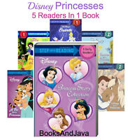 Step Into Reading Levels 1-2 Disney Princess Story Collection 5in1 FREE ship $35