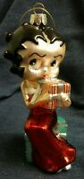 BETTY BOOP 2010 w/ PRESENT CHRISTMAS ORNAMENT KURT S. ADLER Glass Xmas