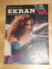 Ekran magazine 10 1990 Francesca Dellera on cover * Dorota Stalinska