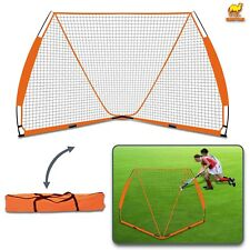 Portable Lacrosse Practice Goal 6' x 6' Quick Easy Setup Bow Style Frame w Carry