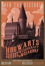 Hogwarts School Wizardry Harry Potter Classic Vintage Retro Kraft Paper Poster