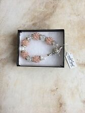 """Park Lane Jewelry, """"IMAGINE"""" Bracelet w/Austrian Crystal & Pink Beads,  NEW!!!"""