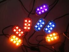 RGB LED KIT CHANGES COLORS 4 PODS  & CONTROLLER & REMOTE ALL CARS & MOTORCYCLES