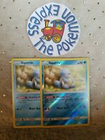 Pokémon TCG 2x Squirtle #22/181 (1Rev Holo) Mint Tag Team Up English Water Mint
