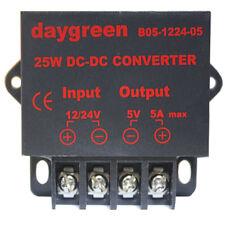 DC DC Converter Regulator Car Step Down Reducer 12V 24V to 5V 5 AMP 25W US Ship