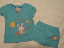 BABY PARIS Girls 9 Month Shorts Bunny Shirt Outfit Easter NWT